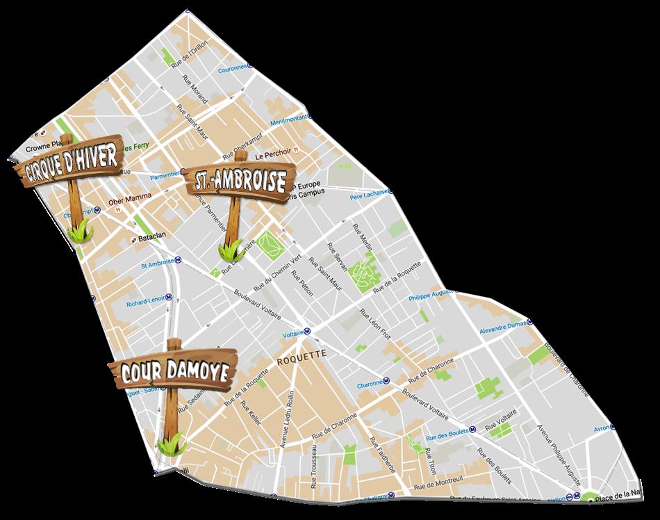 parijsmijnstad - bezienswaardigheden 11e arrondissement van Parijs