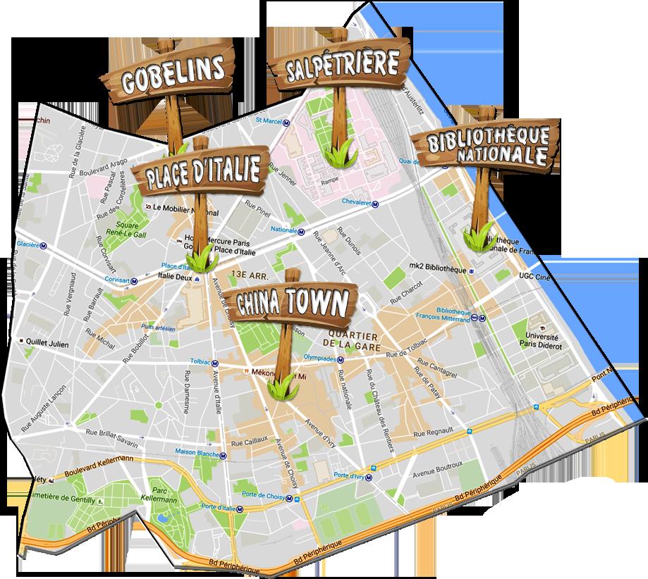 parijsmijnstad - Bezienswaardigheden 13e arrondissement van Parijs