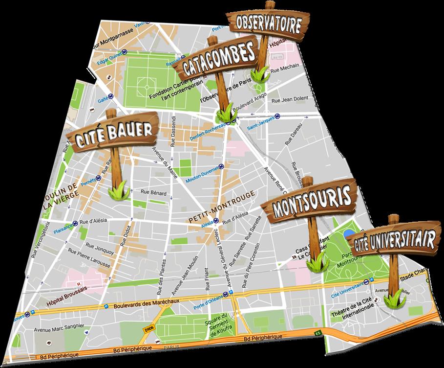 parijsmijnstad - Bezienswaardigheden 14e arrondissement van Parijs