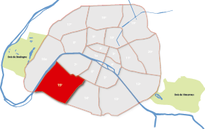 parijsmijnstad - 15e arrondissement van Parijs