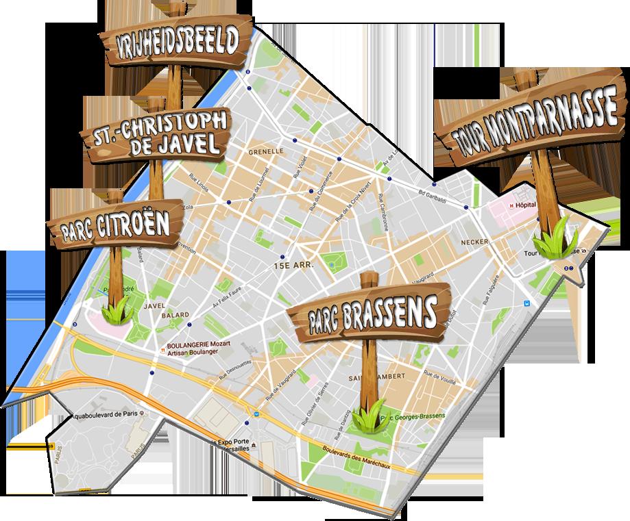 parijsmijnstad - Bezienswaardigheden 15e arrondissement van Parijs