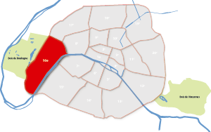 parijsmijnstad - 16e arrondissement van Parijs