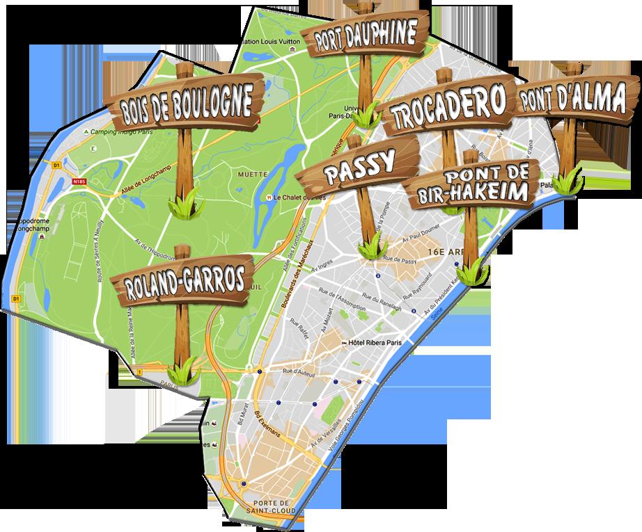 parijsmijnstad - Bezienswaardigheden 16e arrondissement van Parijs