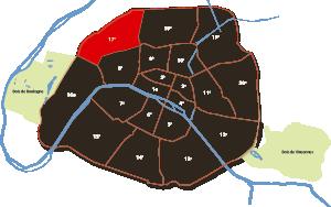 parijsmijnstad - 17e arrondissement van Parijs