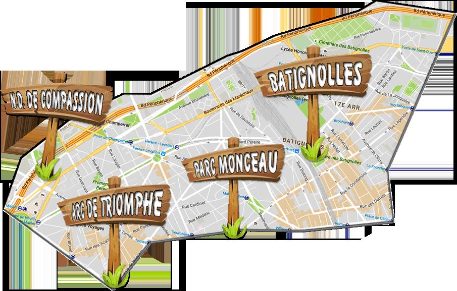 parijsmijnstad - Bezienswaardigheden 17e arrondissement van Parijs