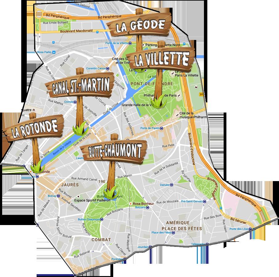 parijsmijnstad - Bezienswaardigheden 19e arrondissement van Parijs