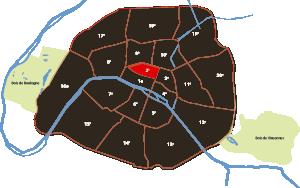 parijsmijnstad - 2e arrondissement van Parijs