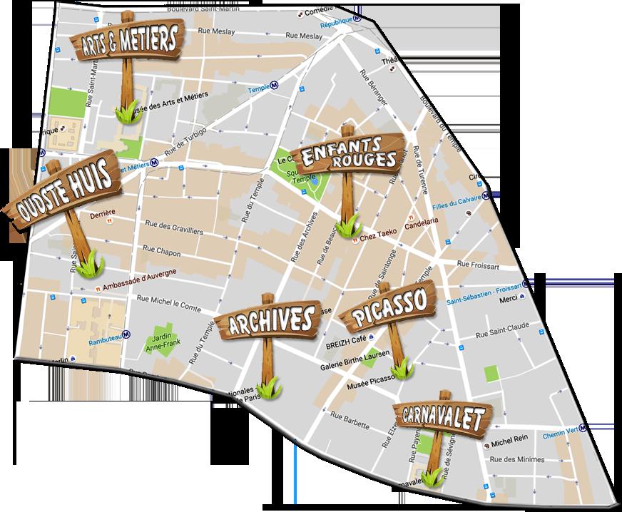 parijsmijnstad - bezienswaardigheden 3e arrondissement van Parijs