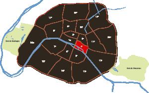 parijsmijnstad - 4e arrondissement van Parijs