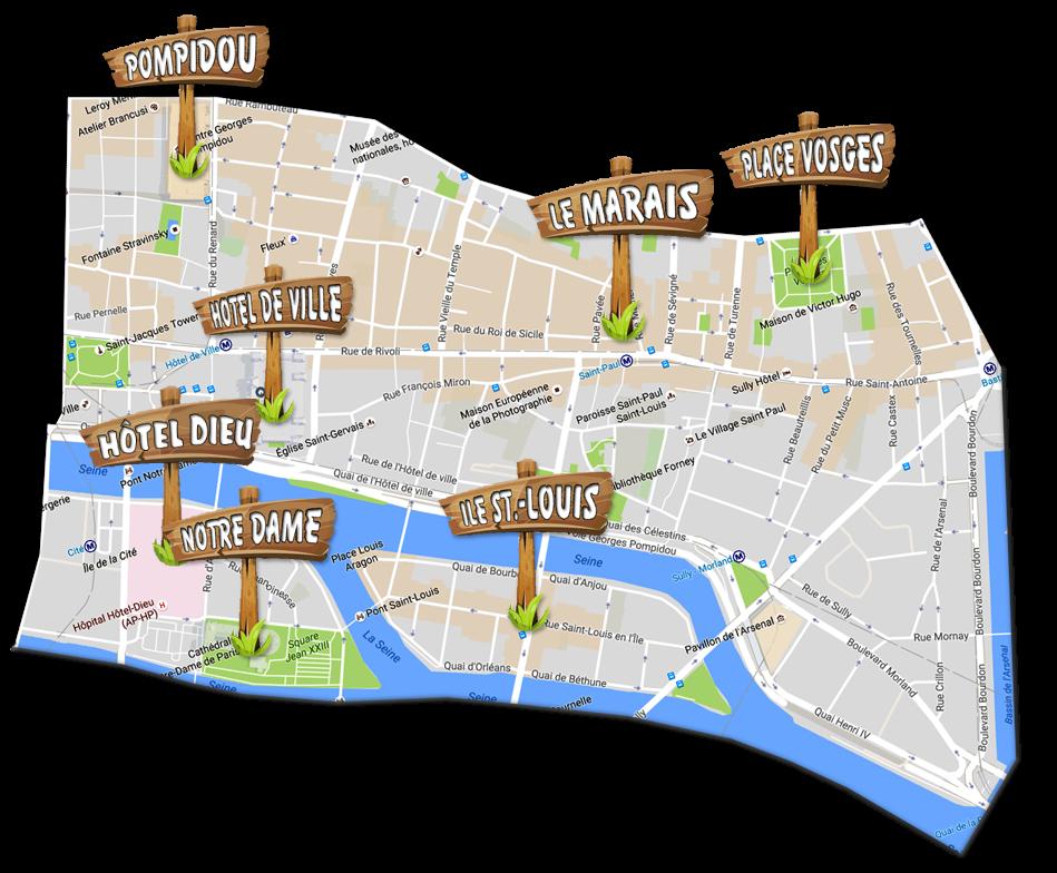parijsmijnstad - bezienswaardigheden 4e arrondissement van Parijs