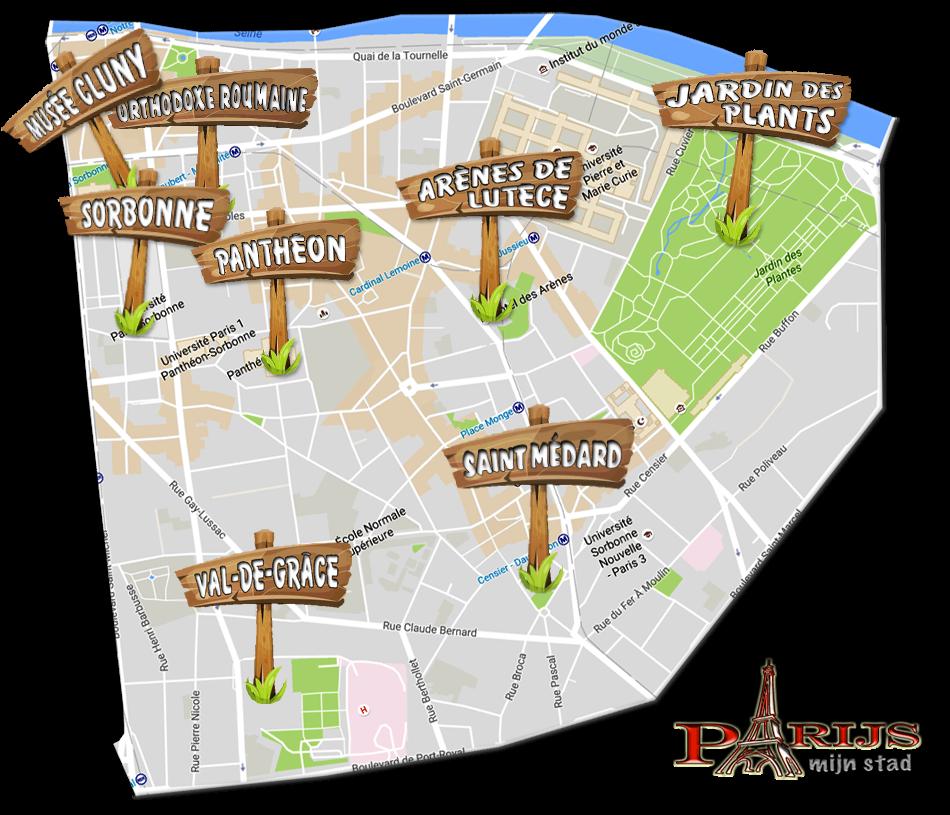 parijsmijnstad - bezienswaardigheden 5e arrondissement van Parijs