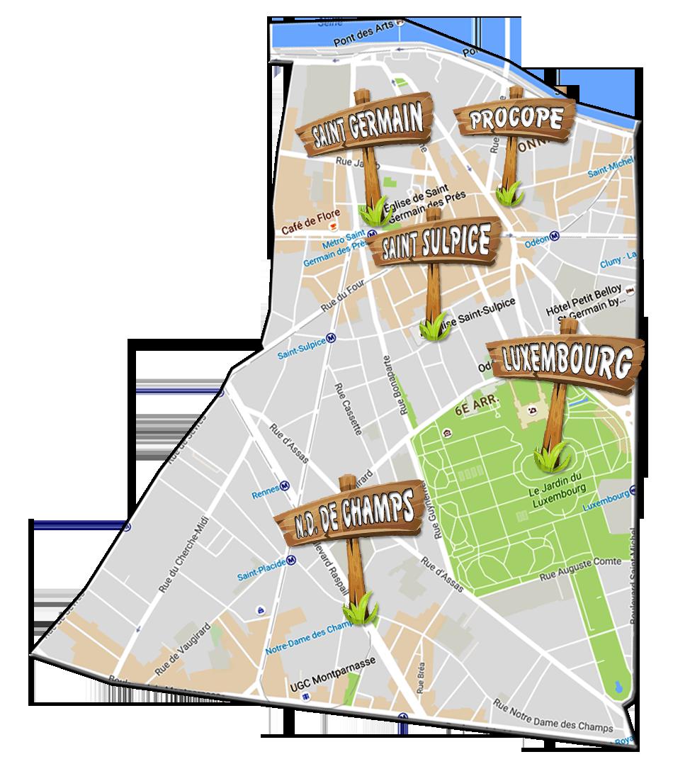 parijsmijnstad - bezienswaardigheden 6e arrondissement