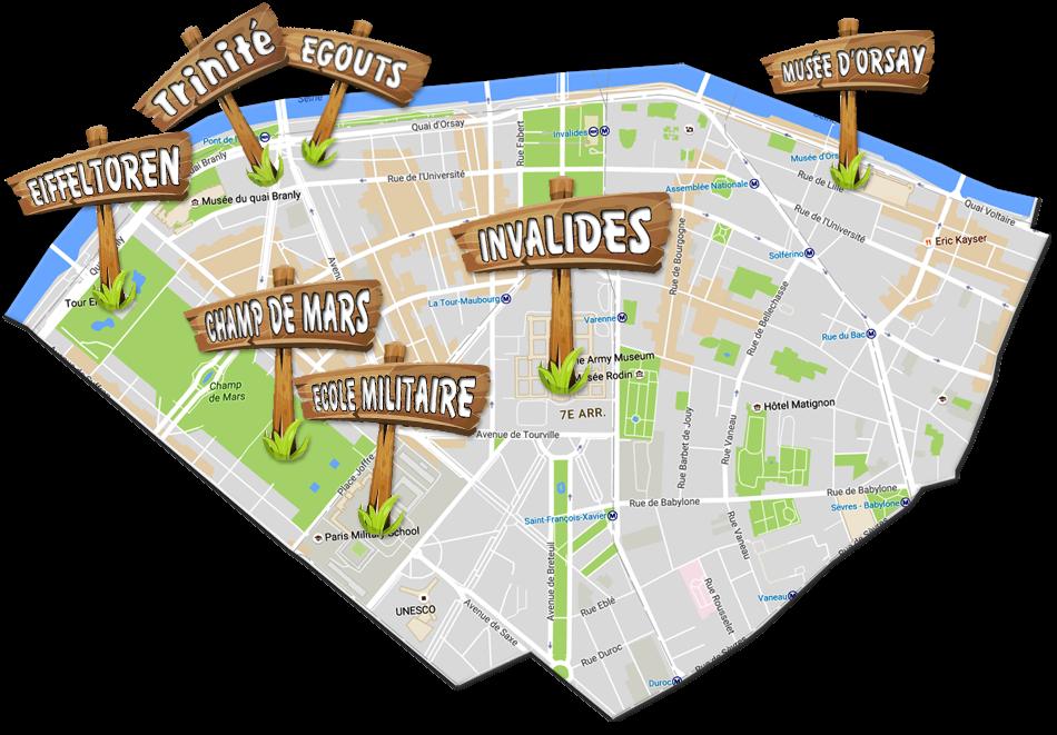 parijsmijnstad - bezienswaardigheden 7e arrondissement van Parijs