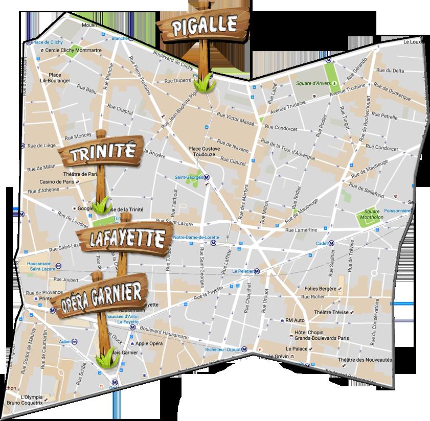 parijsmijnstad - bezienswaardigheden 9e arrondissement van Parijs