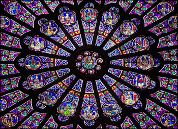 parijsmijnstad - roosvenster Notre Dame