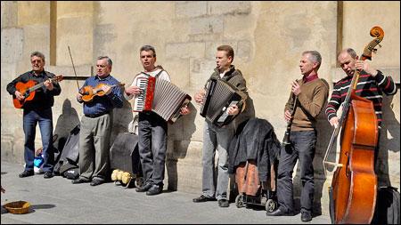 parijsmijnstad - straatmuzikanten Marais