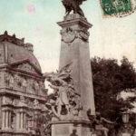 parijsmijnstad - monument Gambetta (palais Louvre, nu pyramide) - 1909