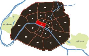 parijsmijnstad - 1e arrondissement van Parijs