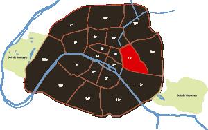 parijsmijnstad - 11e arrondissement van Parijs