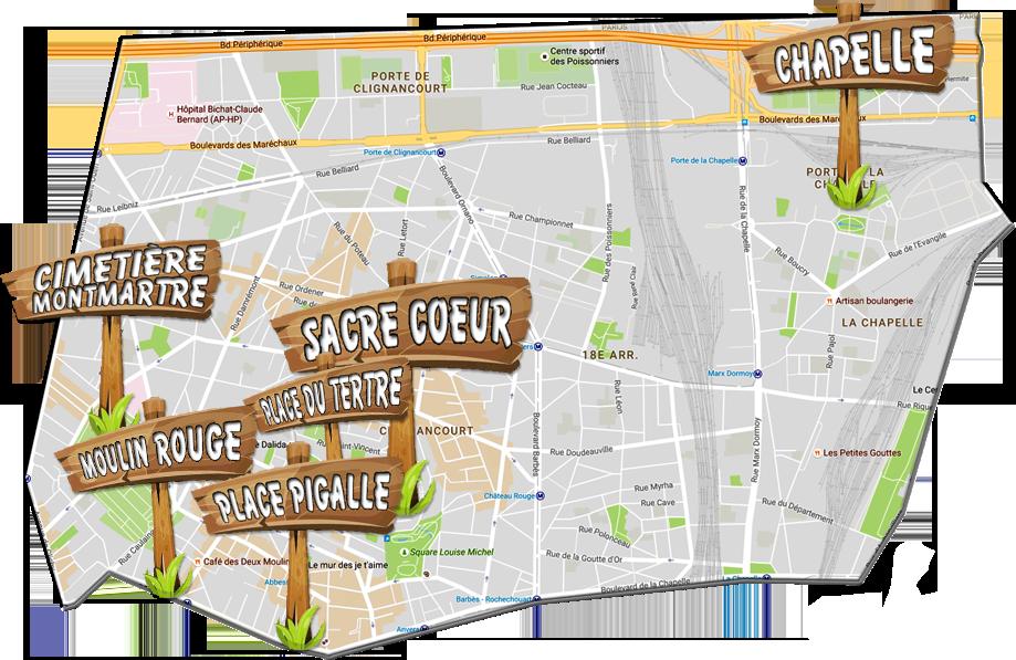 parijsmijnstad - Bezienswaardigheden 18e arrondissement van Parijs