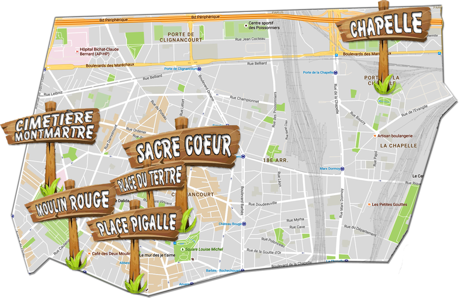 18e arrondissementen Parijs