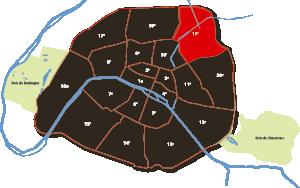 parijsmijnstad - 19e arrondissement van Parijs