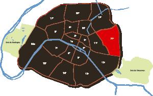 parijsmijnstad - 20e arrondissement van Parijs