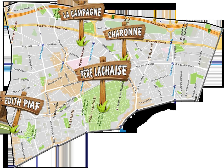 parijsmijnstad - Bezienswaardigheden 20e arrondissement van Parijs