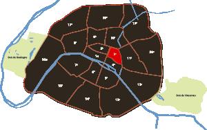 parijsmijnstad - 3e arrondissement van Parijs
