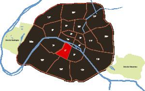 parijsmijnstad - 6e arrondissement van Parijs