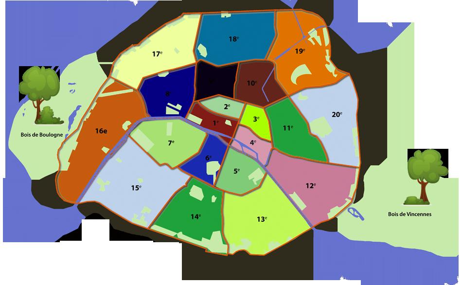 parijsmijnstad - alle 20 arrondissementen van Parijs