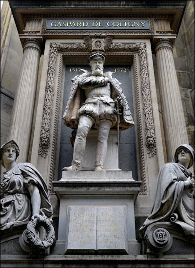 parijsmijnstad standbeeld Coligny