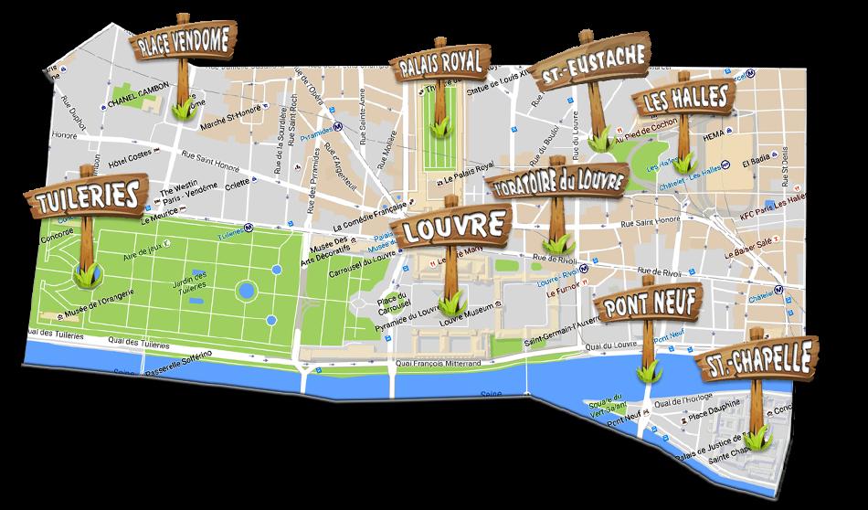 bezienswaardigheden van het 1e arrondissement van Parijs