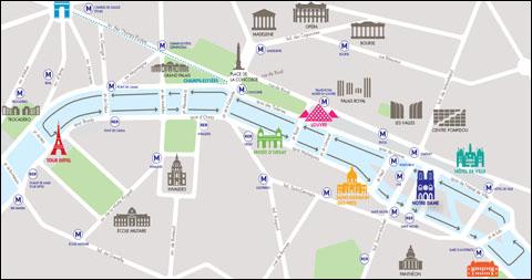 parijsmijnstad - route BatoBus Parijs