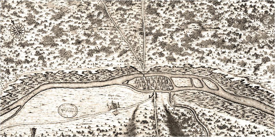 oude kaart parijs 360