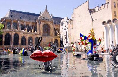parijsmijnstad - St.-Merri - Fontaine Stravinsky Parijs